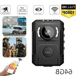 Police Security Body Worn Camera 1080P Night Vision 170° Fo