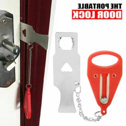 Portable Door Lock - Hardware Safety Security Tool for Home
