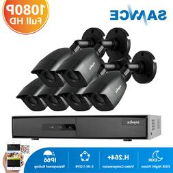 SANNCE 1080p Outdoor Security Camera System 8 Channel DVR 6P