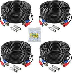 premium quality 4pack 100ft video power cable