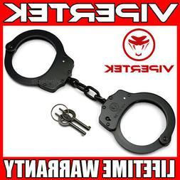 VIPERTEK Professional Double Lock Black Steel Police Securit