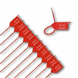 Pull Tight Security Seal w/ Side Tear - Red - 1000/BOX - Zip