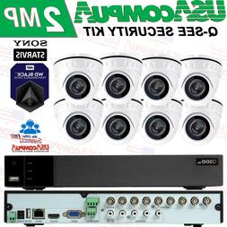 Q-SEE SECURITY CAMERA SYSTEM 8 CH 2TB DVR 1080P  2MP  DOME W