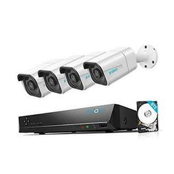 Reolink 4K PoE Security Camera System, 4pcs Wired 8MP Outdoo