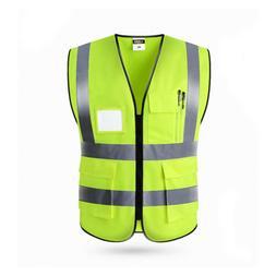 Safety Reflective Vest Security Visibility Shirt Constructio