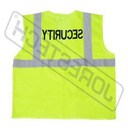 Safety Vest Security Printed Pockets Class 2 Reflective High