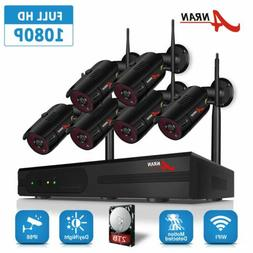 ANRAN Security Camera System Wireless Home 1080P 8CH Outdoor
