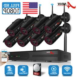 ANRAN Security Camera System Wireless Waterproof Home 1080P
