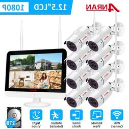 ANRAN Security Camera System With 12inch monitor Home Wirele