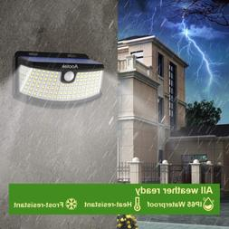 Security Solar Powered LED Lights Motion Sensor Wireless Out