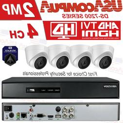 HIKVISION SECURITY SYSTEM 4CH 4 CAMERAS KIT EXIR HD DOME DVR