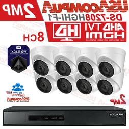 HIKVISION SECURITY SYSTEM 8CH DOME 1080P TURBO-HD IR-20M IP6