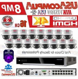 HIKVISION SECURITY SYSTEM KIT 4K-UHD NVR 16CH POE 4MP H265+