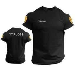 Security T Shirt Event Staff Office Double Sided Badge Front