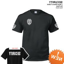 Security T-shirt short sleeves black 100% cotton new Securit