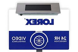 Lorex Outdoor Security Yard Sign with Built-in Bright Solar