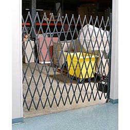 """Single Folding Security Gate, 10""""W To 5-1/2'W X 5'H"""