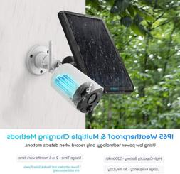 solar battery powered outdoor security camera system