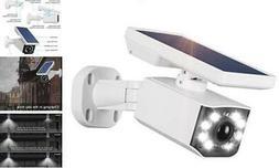 Solar Light Motion Sensor Security Dummy Camera Wireless Out