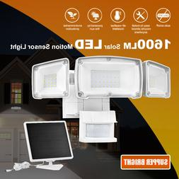 Solar Security Light Outdoor, 1600LM Solar LED Motion Sensor