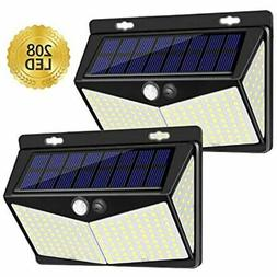 Solar Lights Outdoor 208 LED, Wireless Motion Sensor With 27