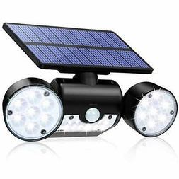 Solar Motion Sensor Detector Flood Light Home Security Guard