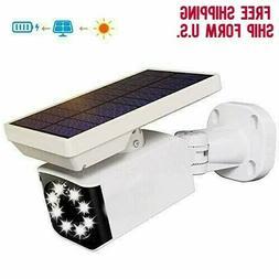 Solar Motion Sensor Light Outdoor Security Flood Light & Dum