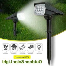 Solar Power 20-LED Spot Lights Outdoor Garden Security Pathw