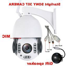Outdoor IP66 Security PTZ IP Cameras CCTV Smart SONY 307 Wir