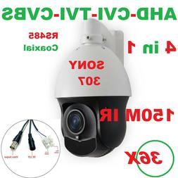 SONY307 CMOS 36X 1080P AHD/TVI/CVI/960H 4 in 1 PTZ Speed Dom