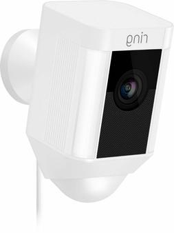 spotlight cam wired white wireless security camera