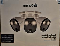 Swann Spotlight Outdoor Security Camera 3-Pack SWIFI-SPOTCAM