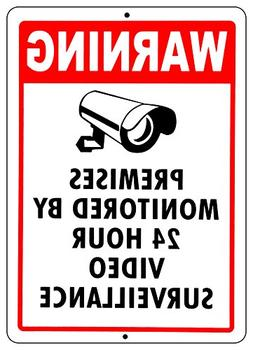 VIDEO SURVEILLANCE SIGN Property Protected by 24 Hour CCTV C