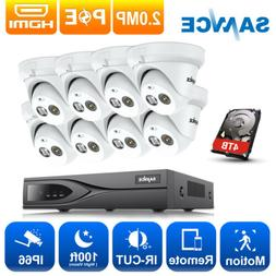 SANNCE True 1080P 2MP POE 8CH NVR Outdoor Dome Security Came