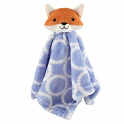 Hudson Baby Velboa Security Blanket, Blue Fox