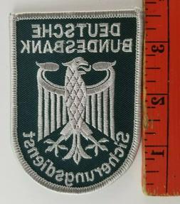 Vintage German Bank Security Service Eagle Patch