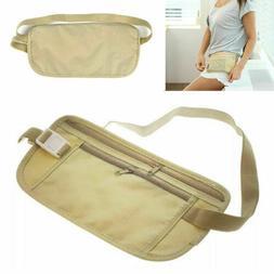 Waist Belt Bag Travel Pouch For Hidden ID Passport Security