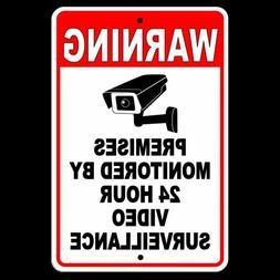 Warning Sign 24 Hour Video Surveillance security METAL CCTV