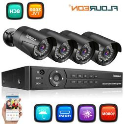 Outdoor Security Camera 1080p Full HD Home 8CH Video AHD DVR