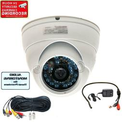 Wide Angle Audio Security Camera with SONY CCD IR Outdoor Ni