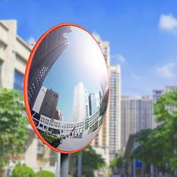 """12"""" Traffic Convex Mirror Wide Angle Safety Mirror Driveway"""