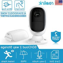 WiFi Indoor Outdoor Home Security Camera Rechargeable Batter