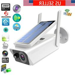 Wifi Wireless 1080P Solar Power IP Camera 2MP CCTV Security