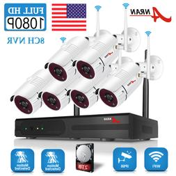 ANRAN 1080P Home Security Camera System Wireless 8CH Outdoor