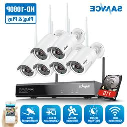 SANNCE Wireless 1080P 8CH NVR 2MP Video Security IP Camera S
