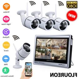 Wired/Wireless 4CH 1080P NVR Outdoor 720P WiFI IR-CUT Camera