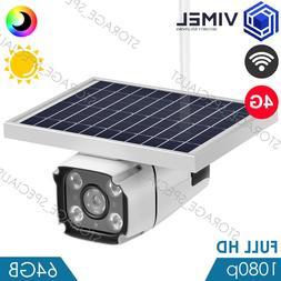 Wireless 4G Home 64GB Flood Light WIFI Security 3G Solar Pow