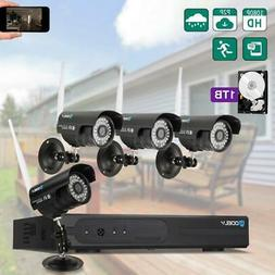 Wireless 8CH 1080P NVR 720P WiFi IR-CUT Camera Home Security