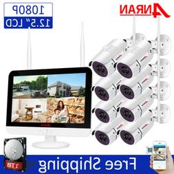 """ANRAN Wireless Home Security Camera System WIFI Outdoor 12"""""""
