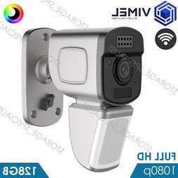 Wireless IP WIFI 128GB Security Flood Light Camera Full Colo